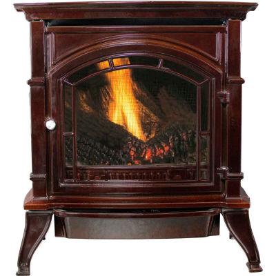Ashley Vent Free Natural Gas Stove AGC500VFMN, Mahogany Enameled Porcelain Cast Iron, 31000 BTU