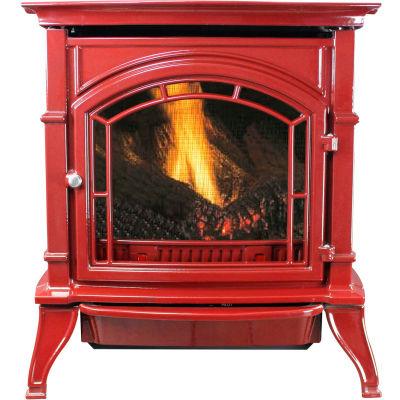 Ashley Vent Free Natural Gas Stove AGC500VFRN, Red Enameled Porcelain Cast Iron, 31000 BTU