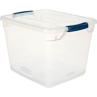 United Solutions Cleverstore Clear Latching Storage Tote w/Lid 30 Quart 16-7/8 x 13-3/8 x 11-1/2 - Pkg Qty 8