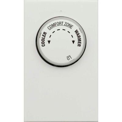 LUX Line Voltage Mechanical Thermostat LV11 - 1 Stage Heat Only, Single Pole 120/240 VAC - Pkg Qty 5