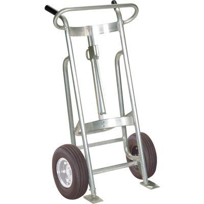 Valley Craft® EZY-Rol™ 2-Wheel Aluminum Drum Truck F81500A0 - Pneumatic Wheels