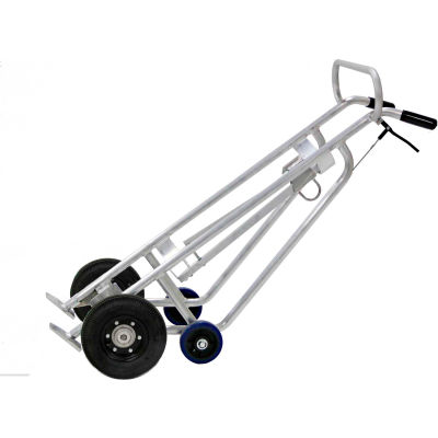 Valley Craft® EZY-Rol™ 4-Wheel Aluminum Drum Truck F82960A1 - Brakes - Pneumatic Wheels