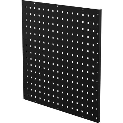 "Valleycraft® Collectors Edition Garage Pegboard Wall Panel - 24""W x 24""H x 0.75""D - BK - Pkg Qty 2"