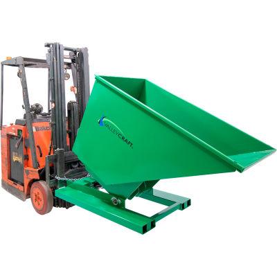 Valley Craft® Hydraulic Powered Self-Dumping Hopper, 1 Cu. Yd., 2,000 Lb. Cap., Green