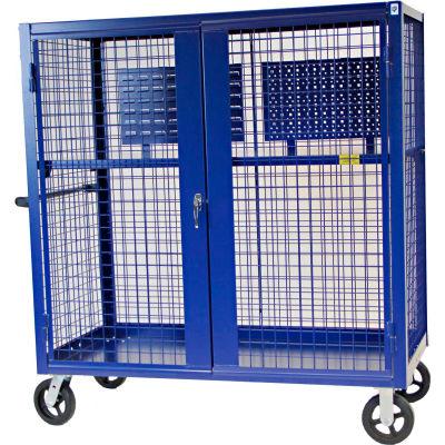 "Valley Craft® F89556VCBL Security Truck 60""L x 30""W x 66""H, Blue"