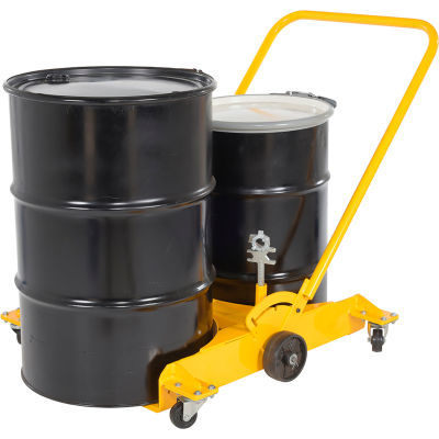 Low Profile Double Drum Dolly with Polyurethane Casters - 2000 Lb. Capacity