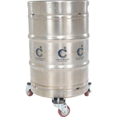 "Keg Transport Skate 11-3/16"" & 16-1/4"" Usable Diameter, 200 Lb. Capacity, Black"
