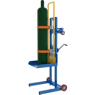 Mechanical Hand Winch Gas Cylinder Lifter - 500 Lb. Capacity
