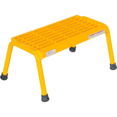 Aluminum Yellow Step Stand - 1 Step Welded - SSA-1-Y