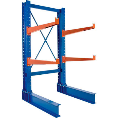 "Cantilever Rack SD Single Sided Unit, 8'H x 24"" Arms, 3,500 lb Cap. Baked Enamel"