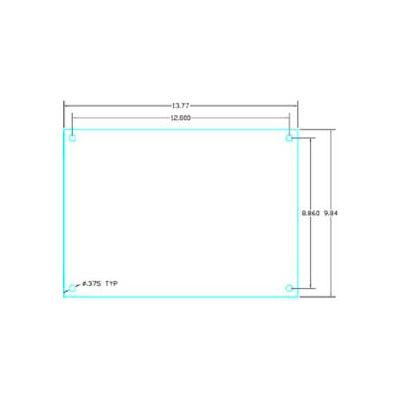 "Vynckier Abp1612a Aria 16"" X 12"" Aluminum Back Plate - Min Qty 4"