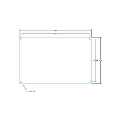 """Vynckier Abp2416s Aria 24"""" X 16"""" Steel Back Plate - Min Qty 2"""