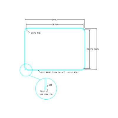 "Vynckier ABP3325N ARIA 33"" X 25"" Non-Metallic Back Plate"