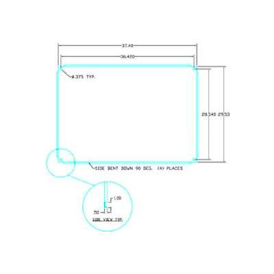 "Vynckier ABP4032A ARIA 40"" X 32"" Aluminum Back Plate"