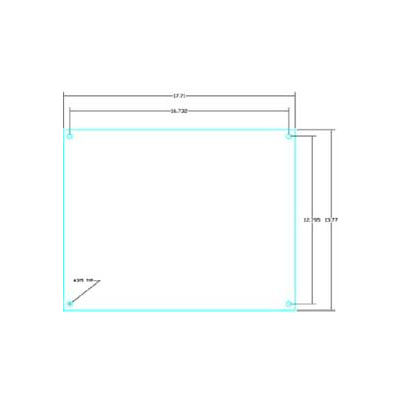 """Vynckier Afph1612n Aria 16"""" X 12"""" Hinged Non-Metallic Front Plate - Min Qty 2"""