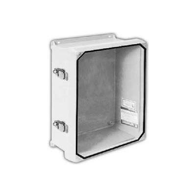 "Vynckier CVJ1210NHWPL2 CVJ 12"" X 10"" Non-Metallic Enclosure/Clearview Window/2 Padlockable Latches"