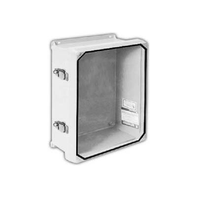 "Vynckier CVJ1412NHWPL2 CVJ 14"" X 12"" Non-Metallic Enclosure/Clearview Window/2 Padlockable Latches"