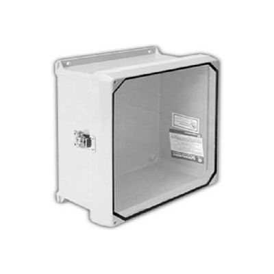 "Vynckier CVJ606HWLL1 CVJ 6"" X 6"" Non-Metallic Enclosure, Clearview Window, Hinge, 1 Twist Latch"