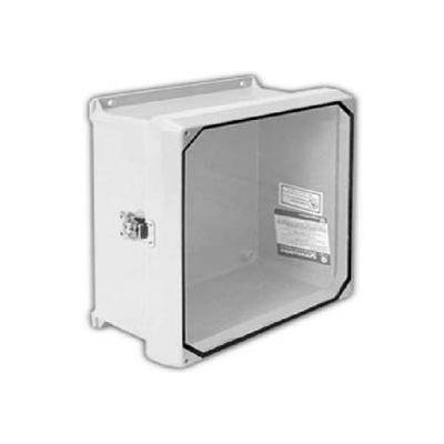 "Vynckier CVJ606NHWLL1 CVJ 6"" X 6"" Non-Metallic Enclosure/Clearview Window/1 Twist Latch"
