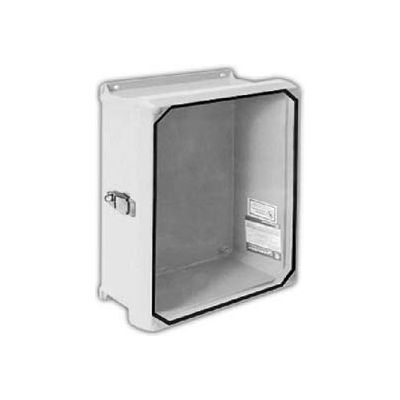 "Vynckier CVJ606NHWPL1 CVJ 6"" X 6"" Non-Metallic Enclosure/Clearview Window/1 Padlockable Latch"