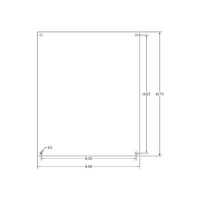 "Vynckier Mp1210a Vj 12"" X 10"" Aluminum Mounting Plate - Min Qty 8"