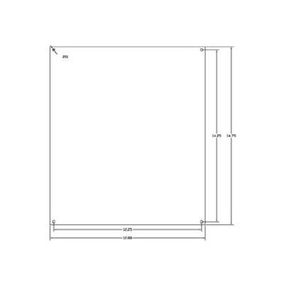 """Vynckier Mp1614n Vj 16"""" X 14"""" Non-Metallic Mounting Plate - Min Qty 4"""