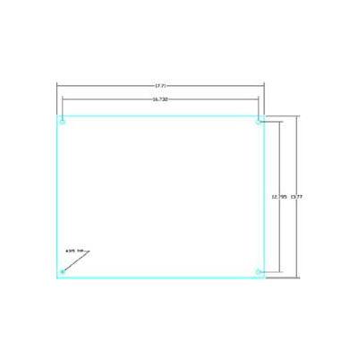 "Vynckier PSBP33N POLYSAFE Pub 25.98"" X 25.98"" PS Non-Metallic Back Plate"