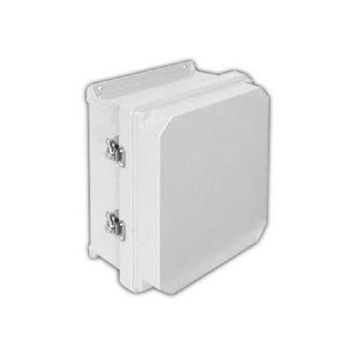 "Vynckier RVJ1412HWLL2 RVJ 14"" X 12"" Non-Metallic Enclosure, Raised Cover, Hinge, 2 Twist Latch"