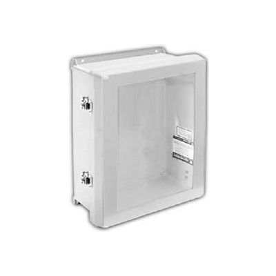 "Vynckier VJB1412HWLL2 VJB 14"" X 12"" Non-Metallic Enclosure, Bonded Window, Hinge, 2 Twist Latches"