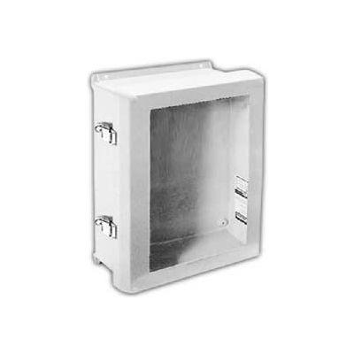 "Vynckier VJB1614NHWPL2 VJB 16"" X 14"" Non-Metallic Enclosure/Bonded Window/2 Padlockable Latch"