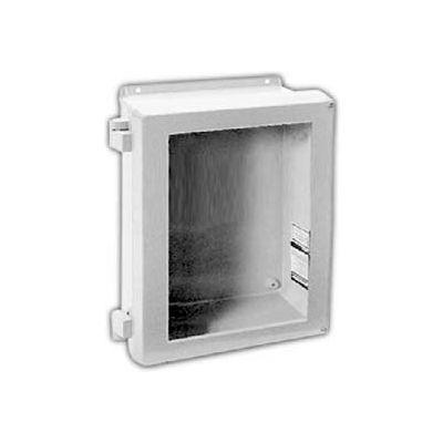 "Vynckier VJB806NHW VJB 8"" X 6"" Non-Metallic Enclosure, Bonded Window, Non-Metallic Hinge, 2 Screws"