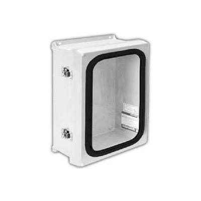 "Vynckier VJG1816NHWLL2 VJG 18"" X 16"" Non-Metallic Enclosure/Gasket Window/2 Twist Latch"