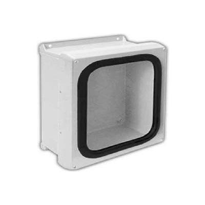 "Vynckier VJG606HW VJG 6"" X 6"" Non-Metallic Enclosure, Gasket Window, Hinge, 2 Corner Screws"