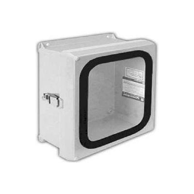 "Vynckier VJG606NHWPL1 VJG 6"" X 6"" Non-Metallic Enclosure/Gasket Window/1 Padlockable Latch"