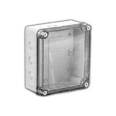 "Vynckier Vm553ctk Vm 5"" X 5"" X 3"" Non-Metallic Enclosure, Transparent Cover, Knockouts - Min Qty 4"