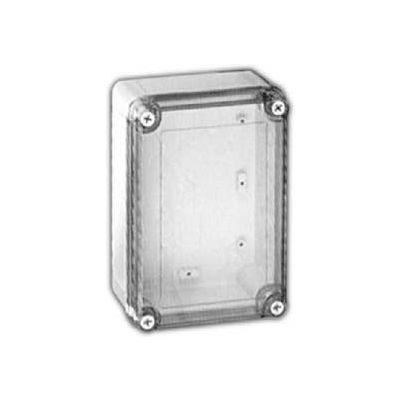 "Vynckier Vm754ct Vm 7"" X 5"" X 4 Non-Metallic Enclosure, Transparent Cover - Min Qty 3"