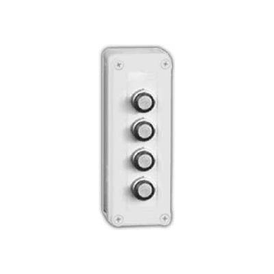 """Vynckier Vm933-Pbm4 Vm 9"""" X 3"""" X 3"""" Non-Metallic Enclosure, Four 22.5mm Push Button Holes -Min Qty 3"""