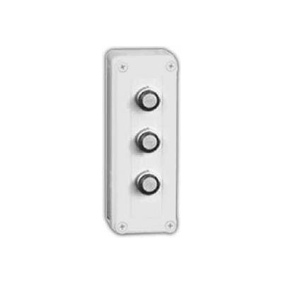 "Vynckier Vm933-Pbs3 Vm 9"" X 3"" X 3"" Non-Metallic Enclosure, Three 30.5mm Push Button Holes-Min Qty 3"