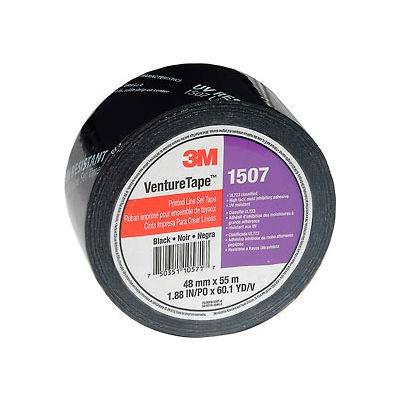 3M™ VentureTape 1507PRTD-Q130 UV Resistant Line Set Tape 2 IN x 60 Yards Black
