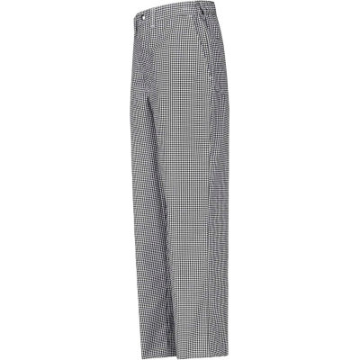 """Chef Designs Cook Pants, Black & White Check, Polyester/Cotton, 28"""" x 36"""""""