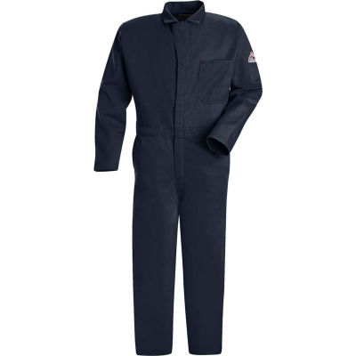 EXCEL FR® Flame Resistant Classic Coverall CEC2, Navy, Size 42 Regular