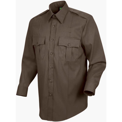 Horace Small™ Deputy Deluxe Men's Long Sleeve Shirt Brown 15.5 x 35 - HS11