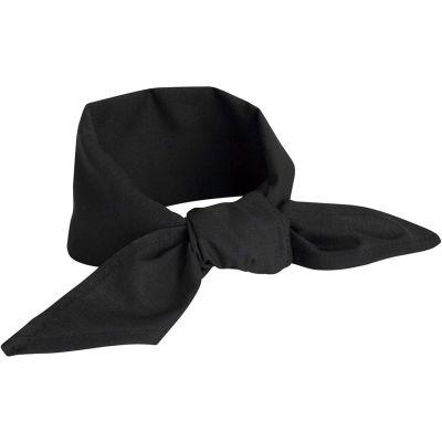 "Chef Designs Neckerchief, Black, Polyester/Cotton, 40"" x 20"""