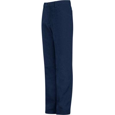 EXCEL FR® Flame Resistant Jean Style Pants PEJ2, Navy, 9 oz., Size 30 x 37U