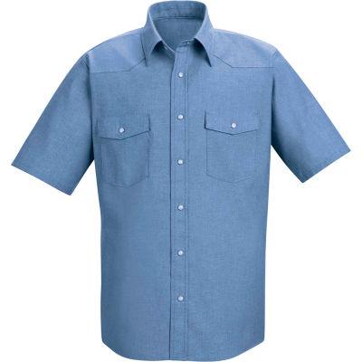 Red Kap® Men's Short Sleeve Deluxe Western Style Shirt L SC24-SC24LBSSL