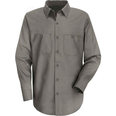 Red Kap® Men's Wrinkle-Resistant Cotton Work Shirt Long Sleeve Regular-4XL Graphite Gray SC30