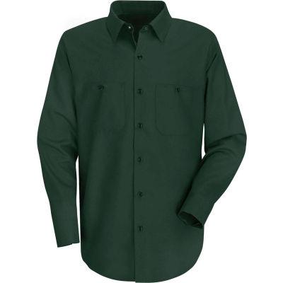 Red Kap® Men's Wrinkle-Resistant Cotton Work Shirt Long Sleeve Long-XL Spruce Green SC30