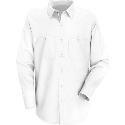 Red Kap® Men's Wrinkle-Resistant Cotton Work Shirt Long Sleeve Regular-3XL White SC30
