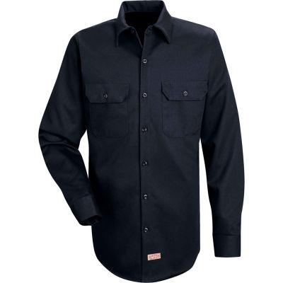 Red Kap® Men's Deluxe Heavyweight Cotton Shirt Long Sleeve Regular-M Dark Navy SC70-SC70DNRGM
