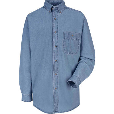 Red Kap® Men's Wrangler Denim Shirt Regular-L SD10-SD10MSRGL